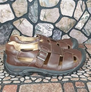 Keen Brown Leather Sandals with Buckle